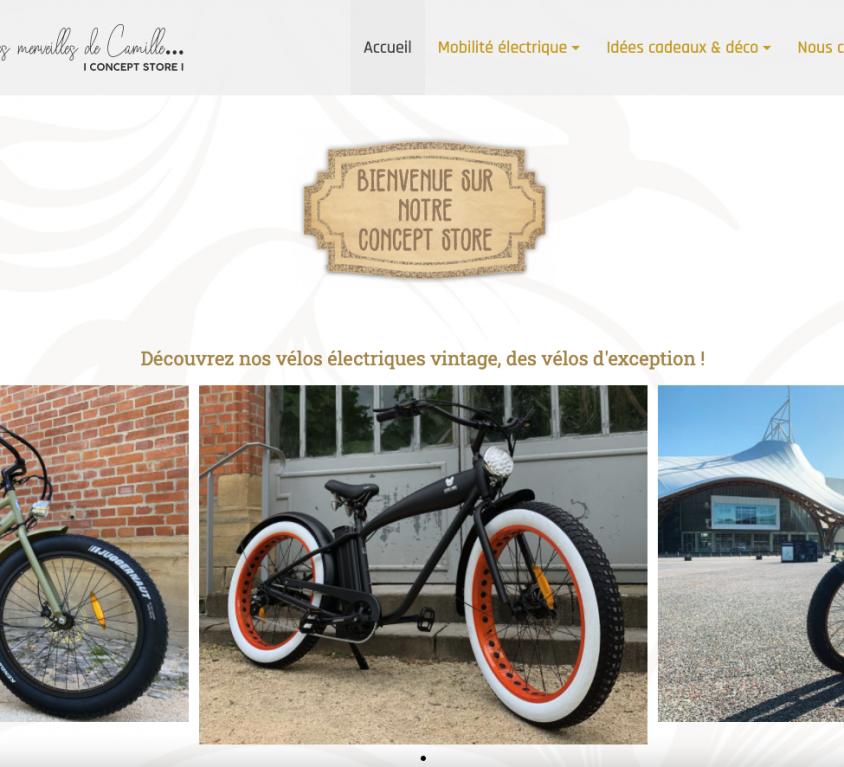 Création du site lespetitesmerveillesdecamille.fr, Concept Store vintage à Metz