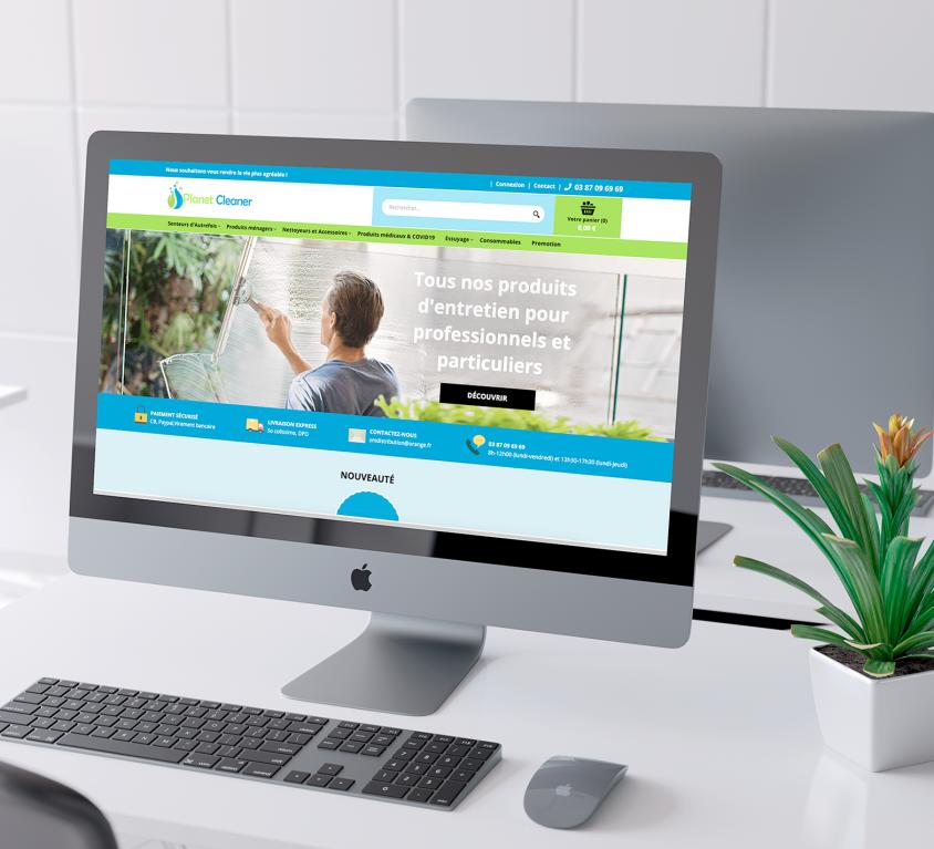 Refonte du site Planet-cleaner.fr, vente de produits d'entretien professionnel à Sarreguemines