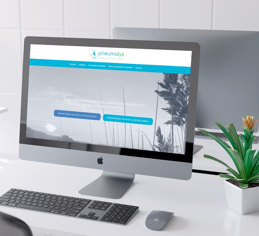 Création du site Pneumolys, cabinet de pneumologie à Roncq
