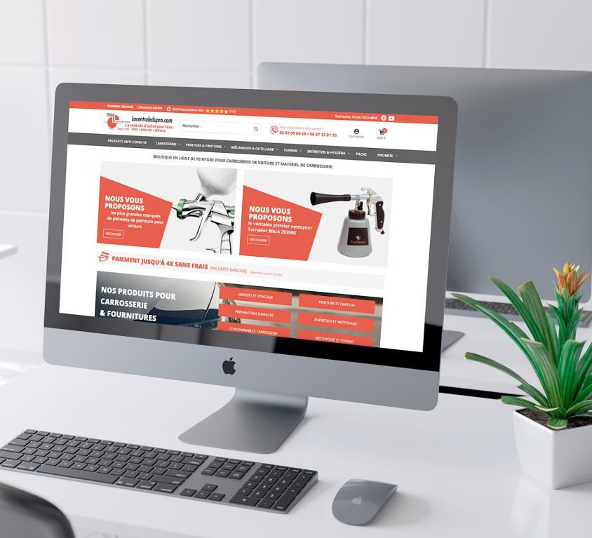 Refonte du site Lacentraledupro.com, vente de matériel pour carrosserie à Sarreguemines