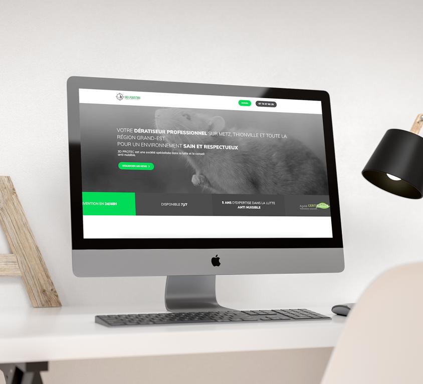 Création du site 3Dprotec.fr, spécialiste des nuisibles à Metz